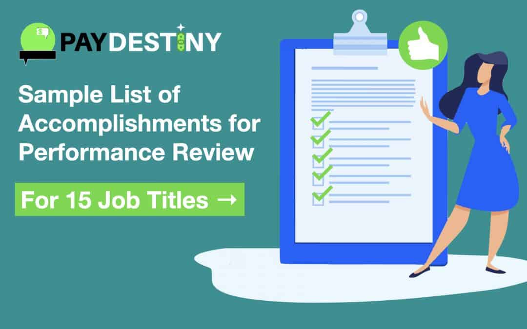 Sample List of Accomplishments for Performance Review (for 15 Job Titles)