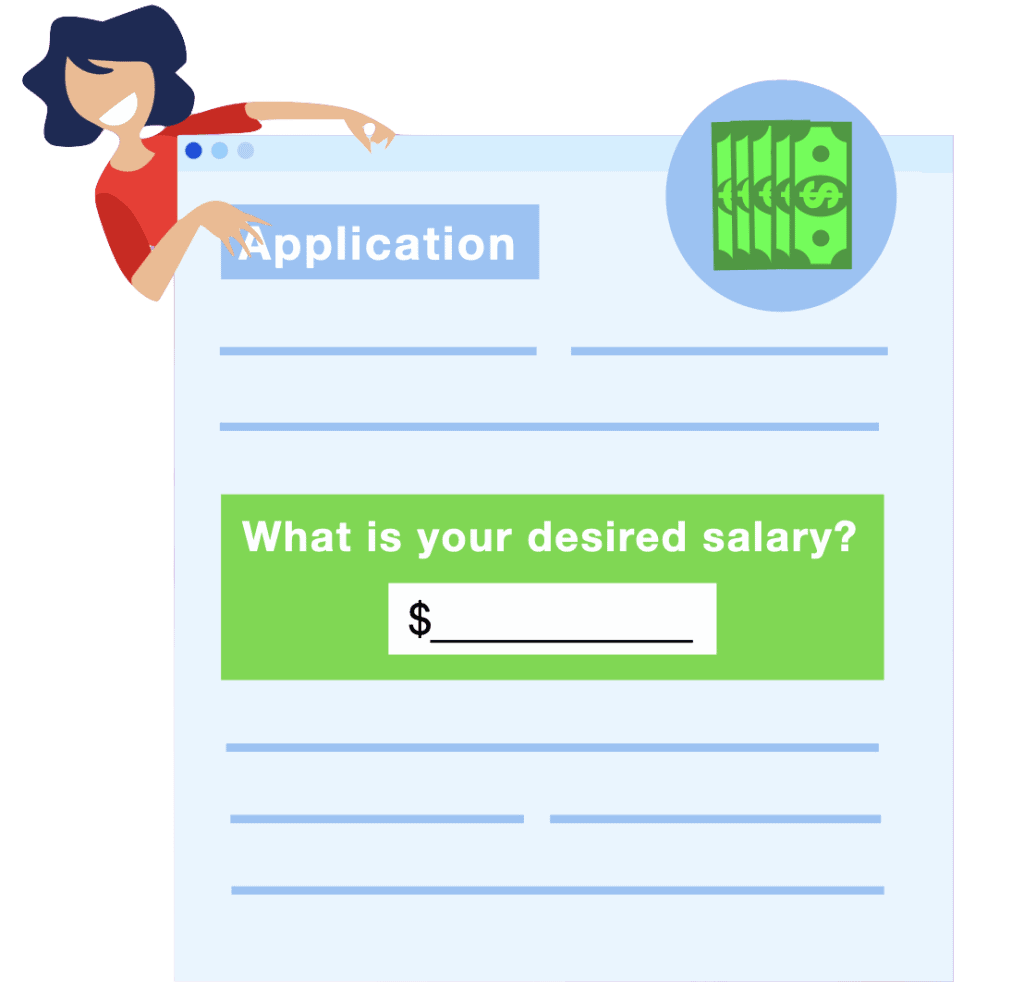 What do you put on an application for desired salary (Answer)
