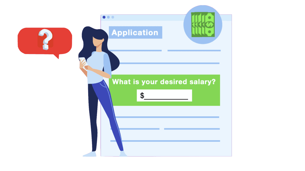 What do you put on an application for desired salary