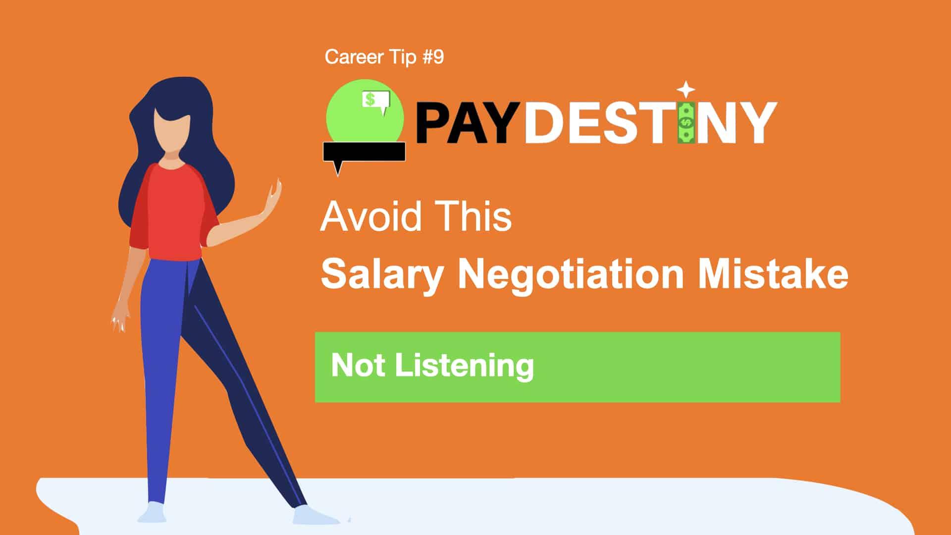 Salary Negotiation Mistake (Not listening)