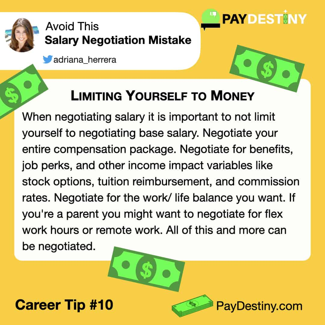 Reach career goals avoid this salary negotiation mistake IG (Limiting Yourself to Money)