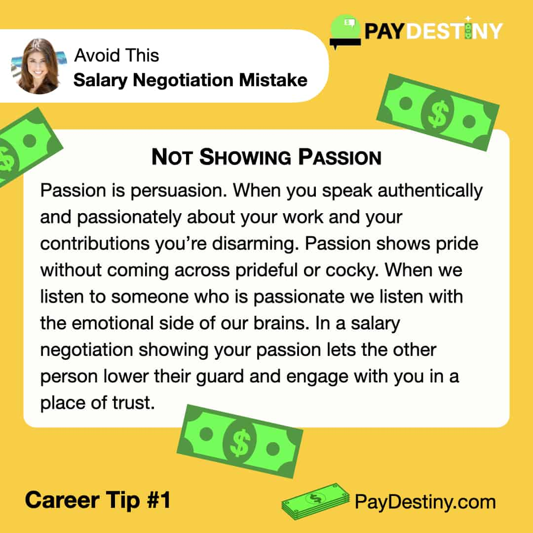 Reach Career Goals Avoid This Salary Negotiation Mistake Not Showing Passion IG (Career Tip #1)