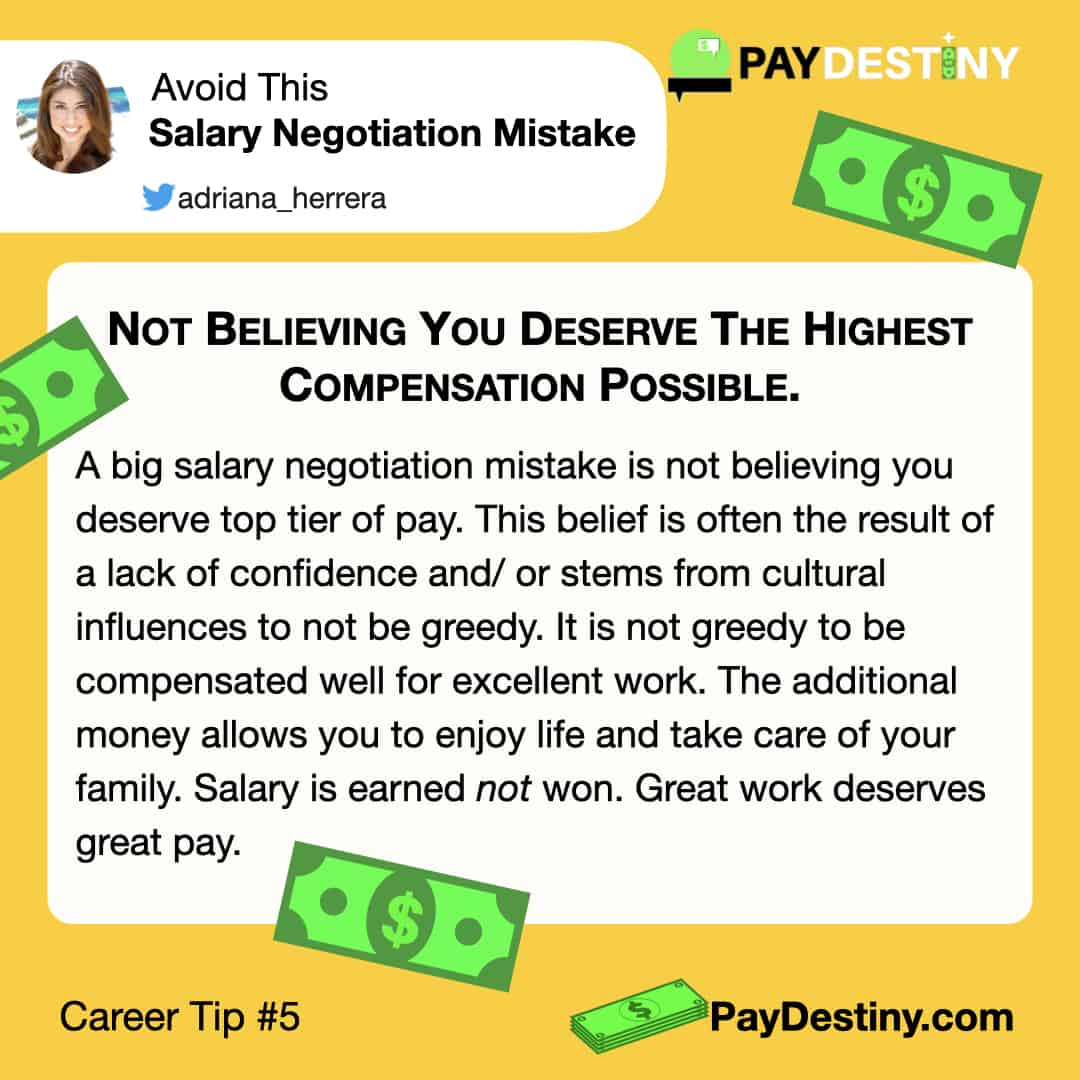 Reach career goals avoid this salary negotiation mistake Not believing IG (Career Tip #6)